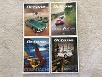 Octane car magazines featuring Ferrari, Lamborghini, Aston Martin, Goodwood Revival, Bugatti, Rally.