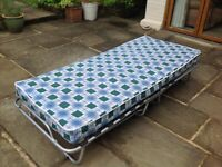 Folding Small Single Guest Bed with Mattress