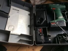 Bosch cordless drill with two batteries in good working order