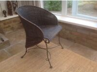 Quirky wicker chair