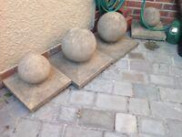 Post concrete round bolder tops