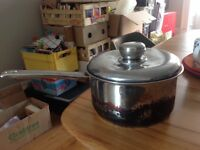 Really sturdy 21cm pan with lid