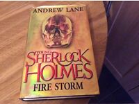 YOUNG SHERLOCK HOLMES FIRE STORM ( HARD BACK COPY)