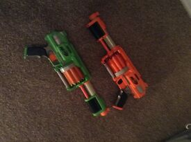 2 new Nerf tag guns with bullets