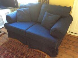 FREE 2 two-seater sofas, navy blue.