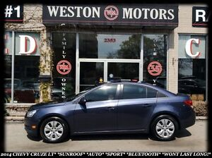 2014 Chevrolet Cruze LT *SUNROOF *AUTO *SPORT * BLUETOOTH