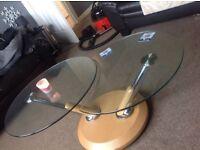 ROTATING glass table