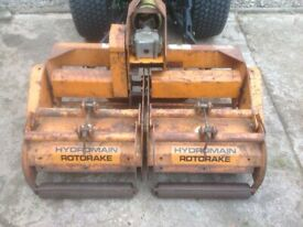Sisis Hydromain Rotorake Scarifier for Compact Tractor