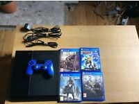 PS4 1tb Ultimate Player edition/Blue Dual Shock 4/4 games