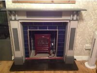 Wooden Fireplace surround With free Antique fire surround fender