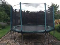 12ft Activo trampoline with enclosure