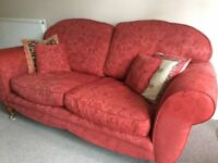 Large trinity red sofa