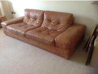 Incanto Italian leather 3 seater sofa