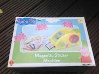 Peppa pig magnetic sticker machine