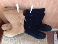 Suede Boots (2 pairs) Size 6-7