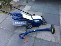 Electric lawnmower with strummer, vgc