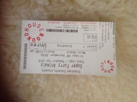 Super Furry Animal ticket (standing) £32:50 Friday 9th December