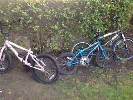 Bmx bikes for spares or repair