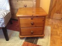TWO DRAW BEDSIDE TABLE PINE