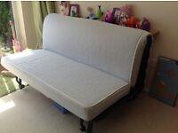 Ikea double cream sofa bed