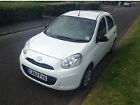 2013 62 nissan micra visia 1198cc only 7400 miles.frenchay park motors.12 MONTHS WARRANTY IN JULY