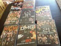 Mixture of wrestling DVDs