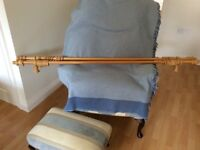 2 x pine curtain pole - £15 for both