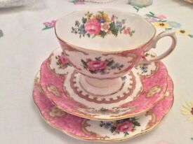 Royal Albert Bone China Trio. Lady Carlyle.