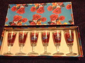 Boxed Venetian Sherry Glasses