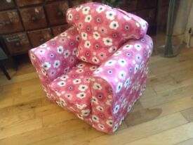 Quality handmade child's lounge chair sofa , unused, Harrods purchase, fantastic quality.