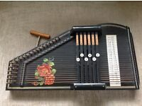 Vintage 6 bar autoharp zither
