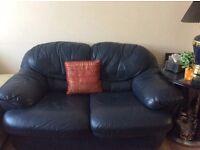 £99 Blue leather sofa set