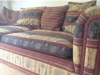 Large second hand sofa in good condition, scatter cushions included