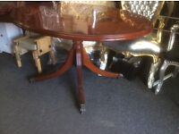 Round vintage dining table