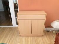 Light oak sideboard unit with 2 cupboards, great condition