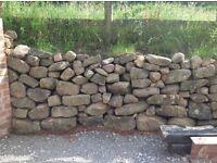Dry stone walling rockery - approx 70 tonnes