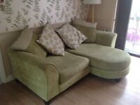 DFS lounger sofa and 2 seater with footstool