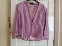 Ladies lilac silk 3 piece suit