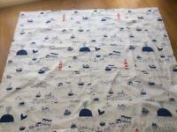 Pair of John Lewis Lined blackout children's curtains 137cm drop, 160cm wide each curtain