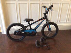 """Specialized Hotrock 16"""" Boys Bike BMX / Mountain Bike + Stabilizers – Black"""