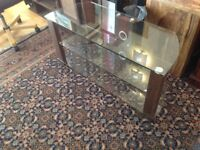 Mahogany and Glass TV Stand Brand new