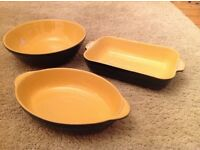 Handcrafted DENBY Lasagne, serving dish and bowl.