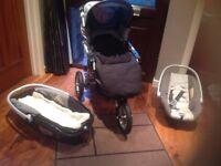 Baby Stroller / Pram plus extra fittings