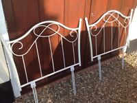 """2 Matching 3'0"""" metal head boards for twin beds"""