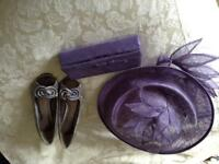 Wedding hat (on hair band), bag & shoes (6)