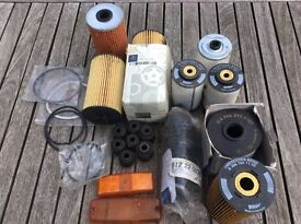 Selection of Mercedes 811 814 412 Parts and Spares Fuel Oil Filters Lenses Steering Gator