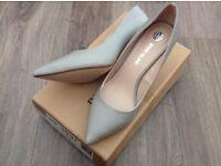 River island heels grey