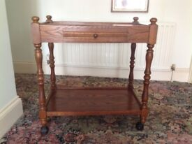 Vintage Oak Trolley/table