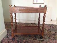 Vintage Oak Trolley/table