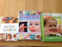 3 recipe books for babies and toddlers